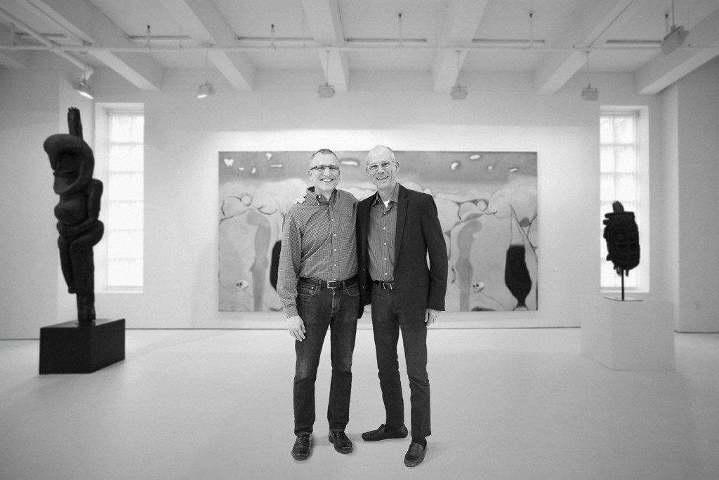 Terry Dowd and general manager at Mana Contemporary Chicago Micha Lang.