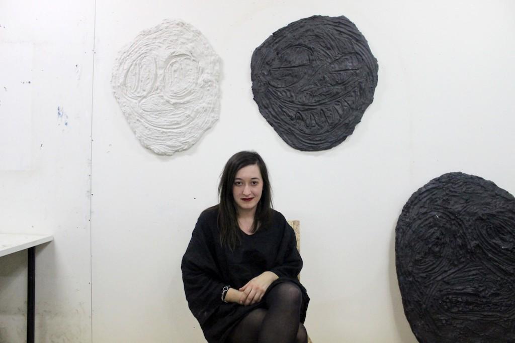 Chloe Seibert in her studio, 2015 photograph by Kate Sierzputowski
