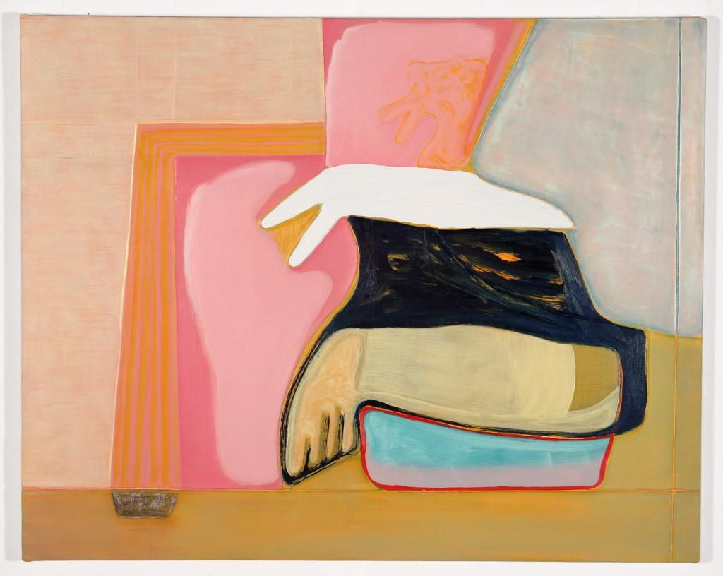 "Magalie Guérin. ""Untitled (hat-Albuquerque),"" 2015 oil on canvas, 16"" x 20"""