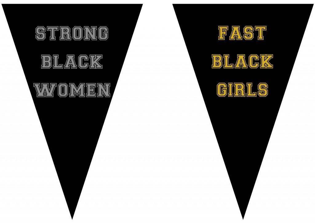 "Alexandria Eregbu. ""Strong Black Women,"" 2013, and ""Fast Black Girls,"" 2013,  digital print on paper"