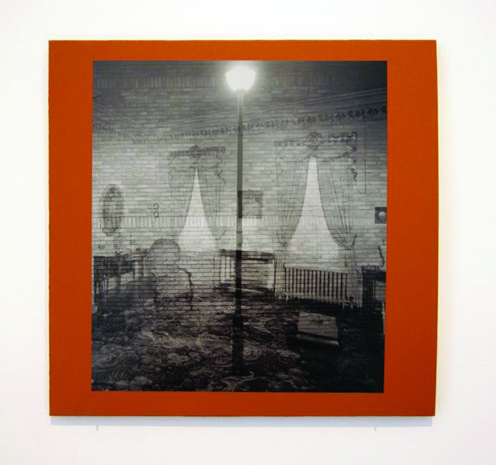 "Ian Pedigo. ""Common Room Streetlight,"" 2015 C-print mounted on archival board, 16"" x 16 1/2"""