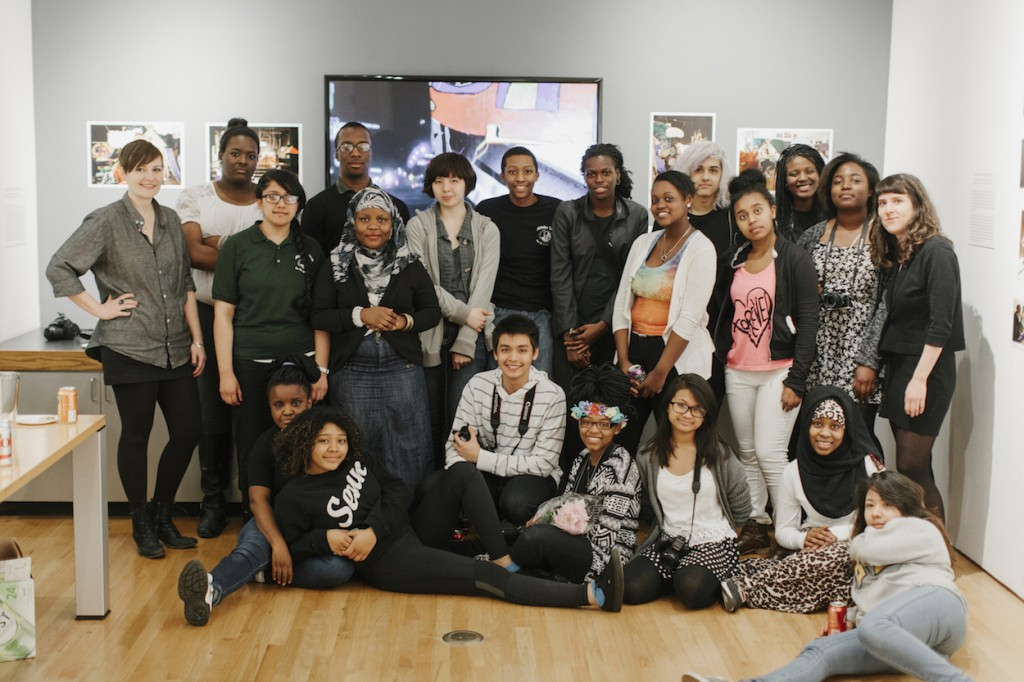 Students from the Picture Me program with museum staff. Photo credit: Jacob Boll.