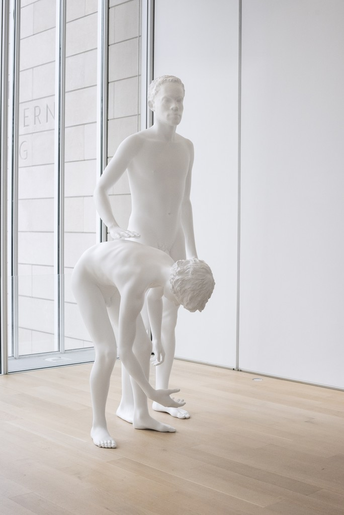 "Charles Ray. ""Huck and Jim,"" 2014.  Installation view at the Art Institute of Chicago."
