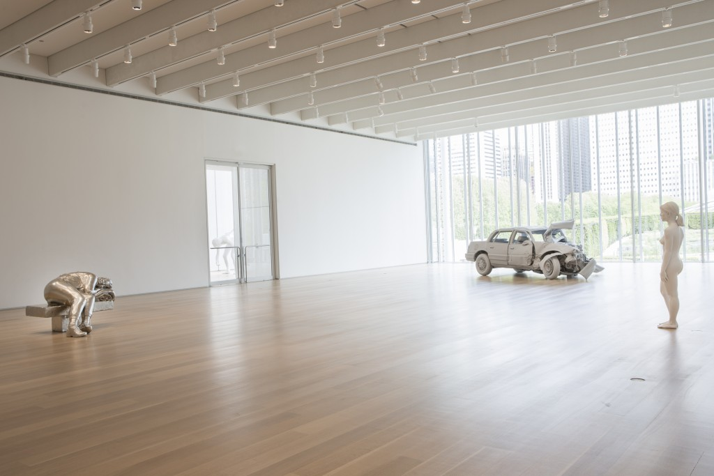 "Installation view of ""Charles Ray: Sculpture, 1997–2014"" at the Art Institute of Chicago"