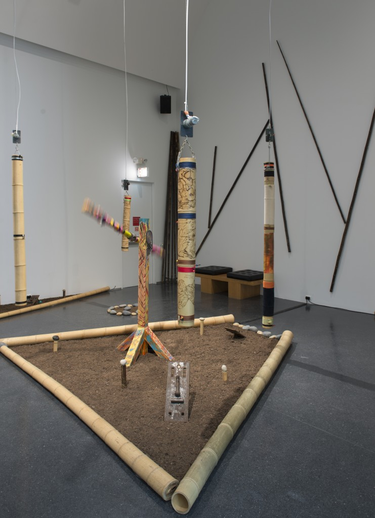 """Multiple artists. """"Rio Negro II,"""" 2015. Sound environment, Installation view, The Freedom Principle: Experiments in Art and Music, 1965 to Now, MCA Chicago. July 11-November 22, 2015. Photo: Nathan Keay, © MCA Chicago."""