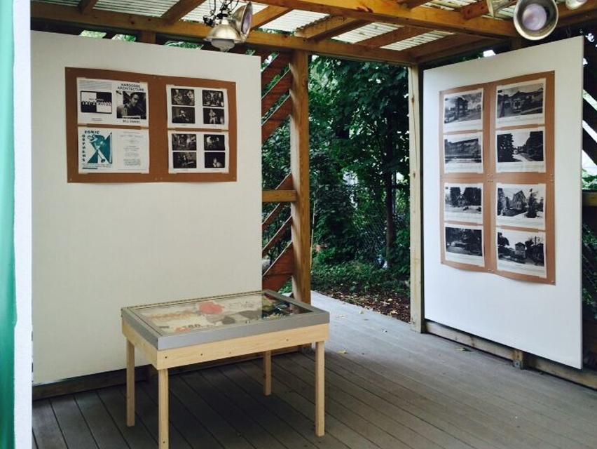"Exhibition view, ""Hardcore Architecture."" The Franklin."