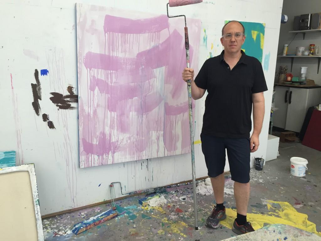 Scott Reeder in his Detroit studio