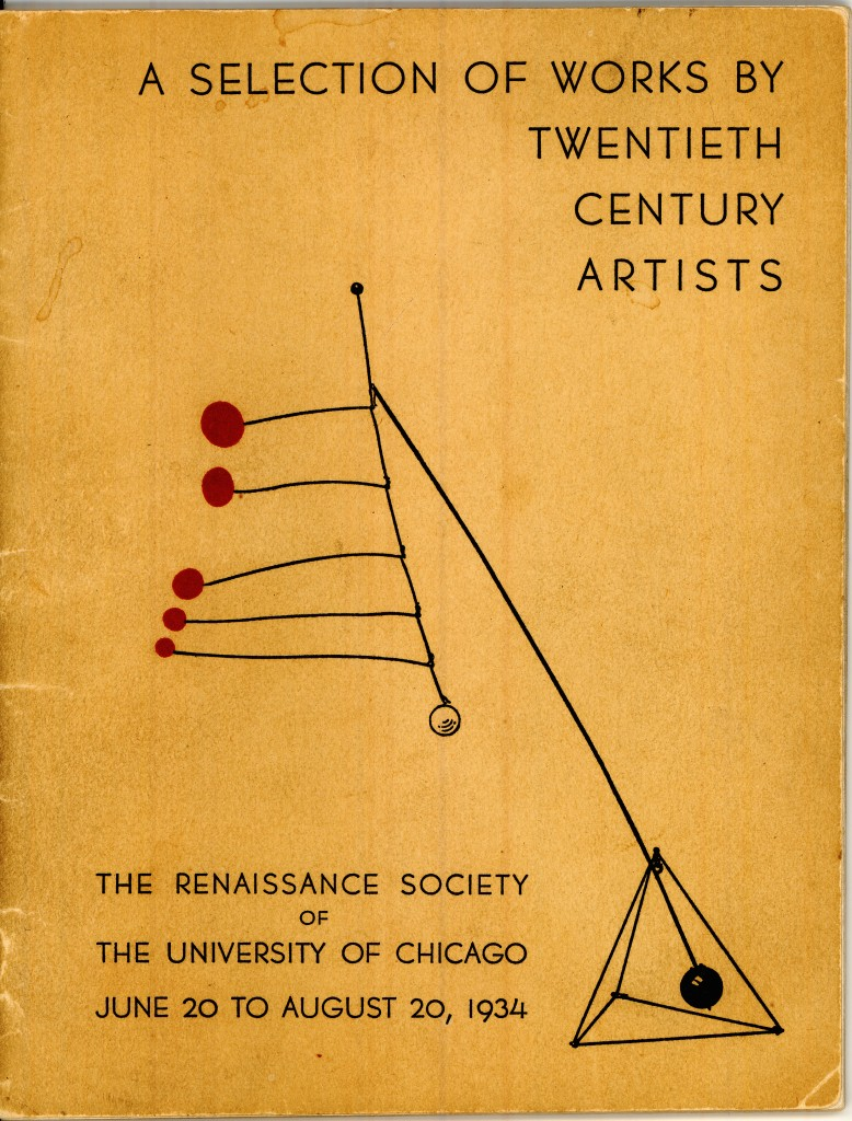 A Selection of Works by Twentieth Century Artists, published by the Renaissance Society in 1934