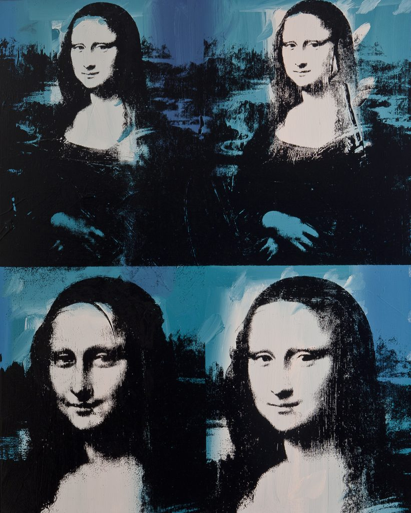 Andy Warhol. Mona Lisa Four Times, 1978. The Art Institute of Chicago, Gift of Edlis/Neeson Collection. © 2015 The Andy Warhol Foundation for the Visual Arts, Inc./Artists Rights Society (ARS), New York.
