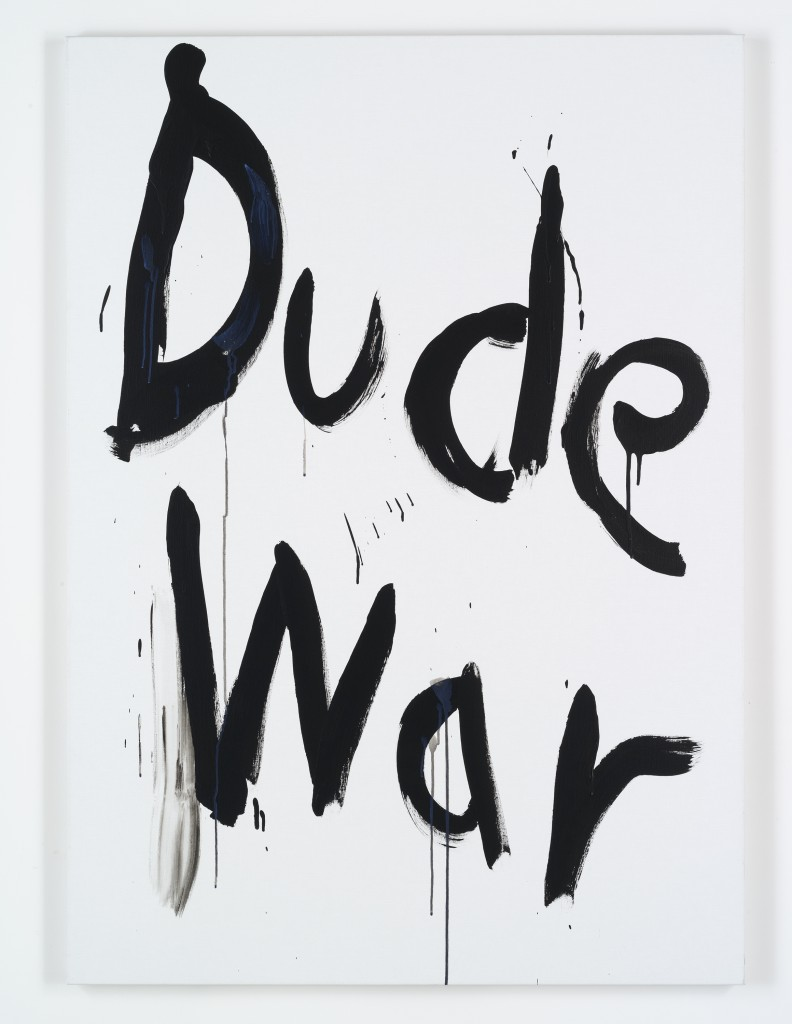 "Kim Gordon. ""Dude War,"" 2008. Courtesy of the artist and Gallery 303, New York."