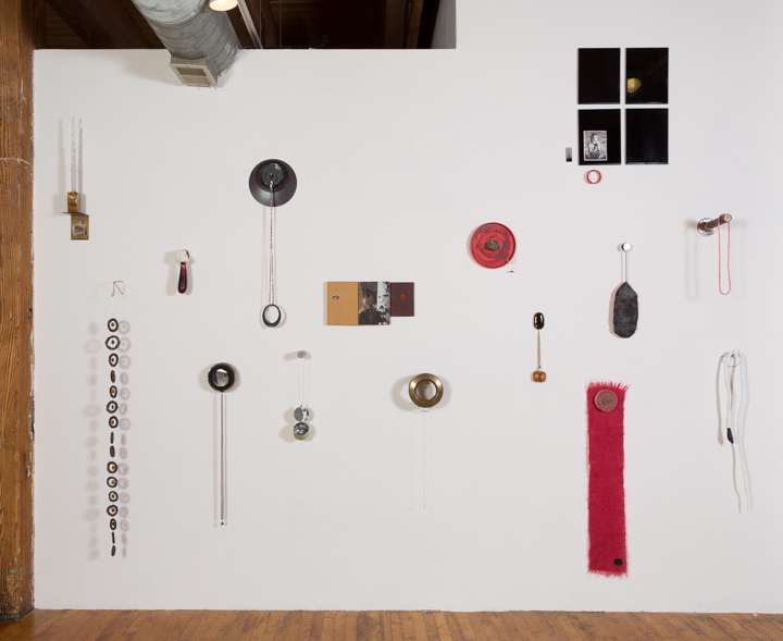"Laura Davis. Installation shot of ""Wall Gems,"" 2015."