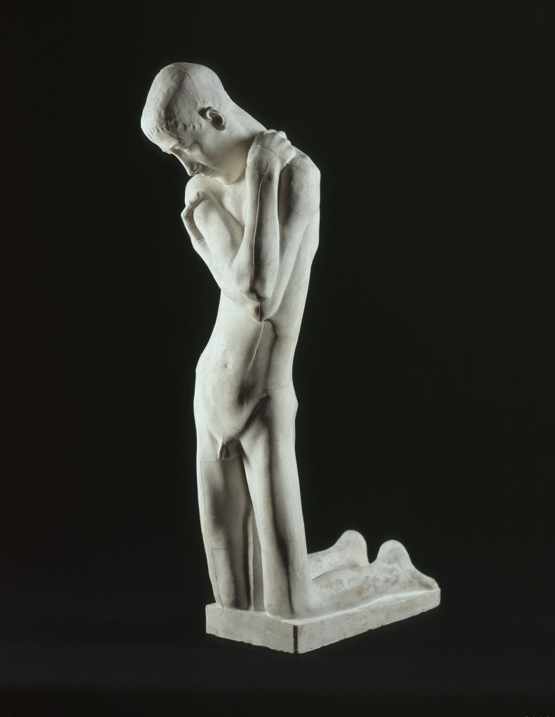 """George Minne. """"Kneeling Youth,"""" c. 1900. Cast plaster. Smart Museum of Art, The University of Chicago, Purchase, The Paul and Miriam Kirkley Fund for Acquisitions, 2008.16."""