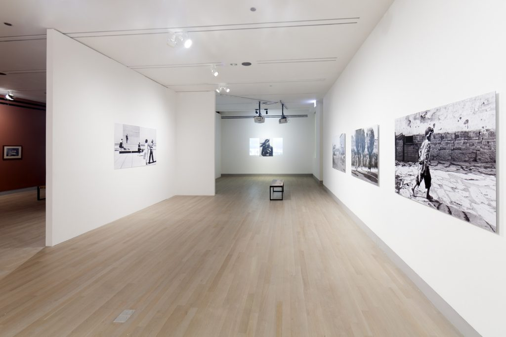 "Installation view of ""Agnès Varda: Photographs Get Moving (potatoes and shells, too),"" 2015. /Photo: Nabiha Khan."