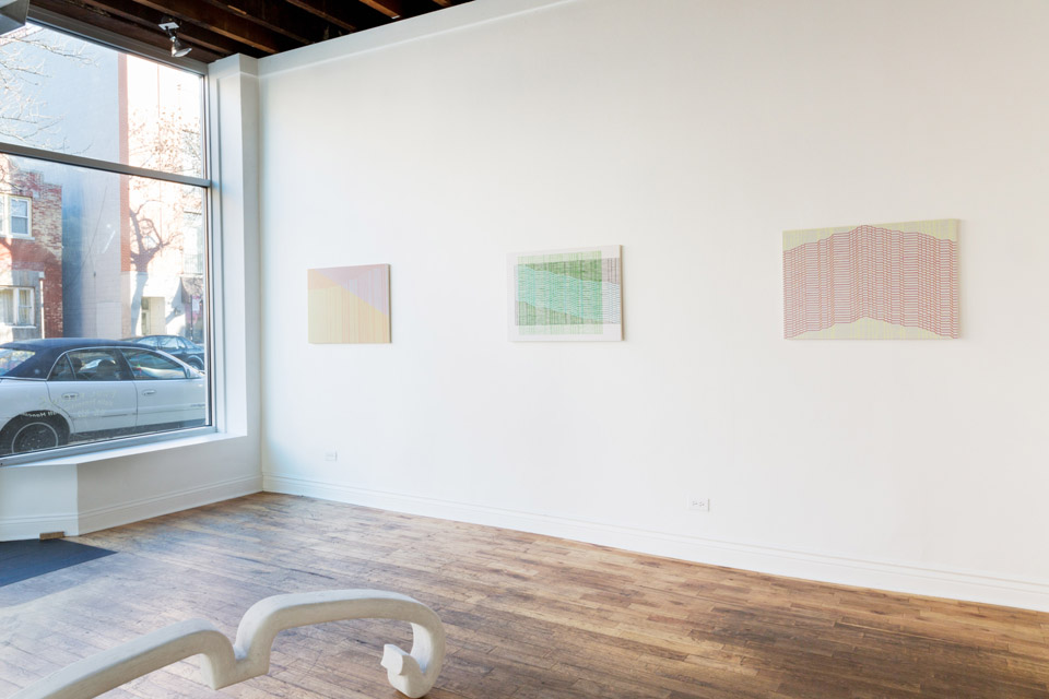 "Kate Pennachio and Matt Mancini. ""Feel Flows,"" installation view. Fenway Gallery."