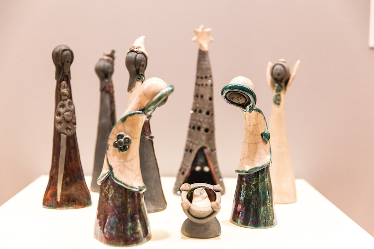 Photos of the Creche sculptures and/or figurines in the LUMA Creche exhibit. (Photo by Mark Patton)