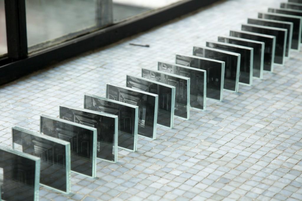 """Jonathas de Andrade. """"Tombamento,"""" 2013. Glass slides."""