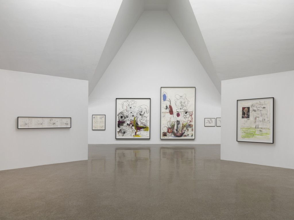 "Paul McCarthy. ""Drawings,"" installation view at the Renaissance Society, 2015."