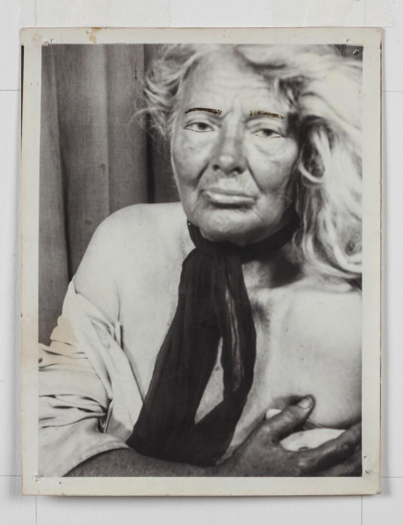 "Lee Godie. ""Untitled,"" undated. Gelatin silver print, 15 ½ x 14 ¼ in. /Photo: John Michael Kohler Arts Center"