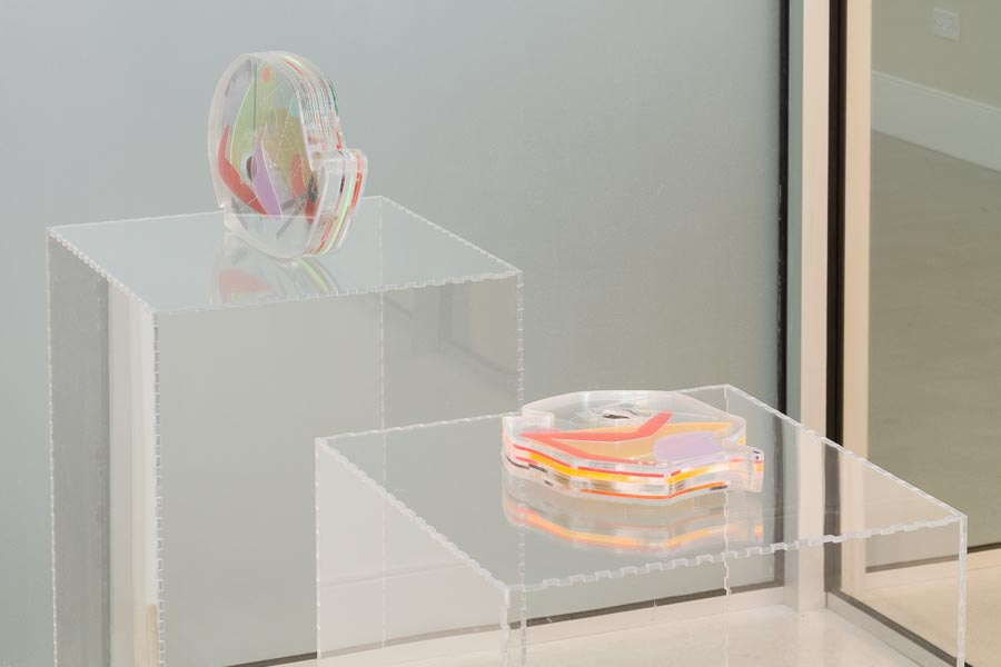 """Installation view of """"Documents for the Past-Present-Future"""" featuring """"Future Reliquaries"""" by Kayla Anderson. /Photo: at Efrain Lopez Gallery."""