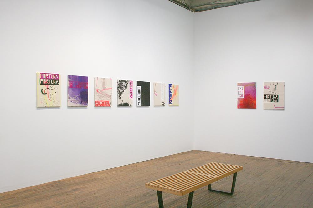"Installation view of ""Turquoise Sunset"" with works by John Phillip Abbott. /Photo: Devening Projects + Editions."