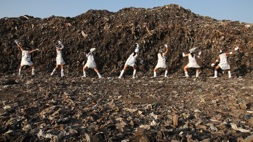 """Tejal Shah. """"Between the Waves, Channel II - Landfill Dance,"""" 2012. ?HD Video, color, sound, ?05:02 minutes."""
