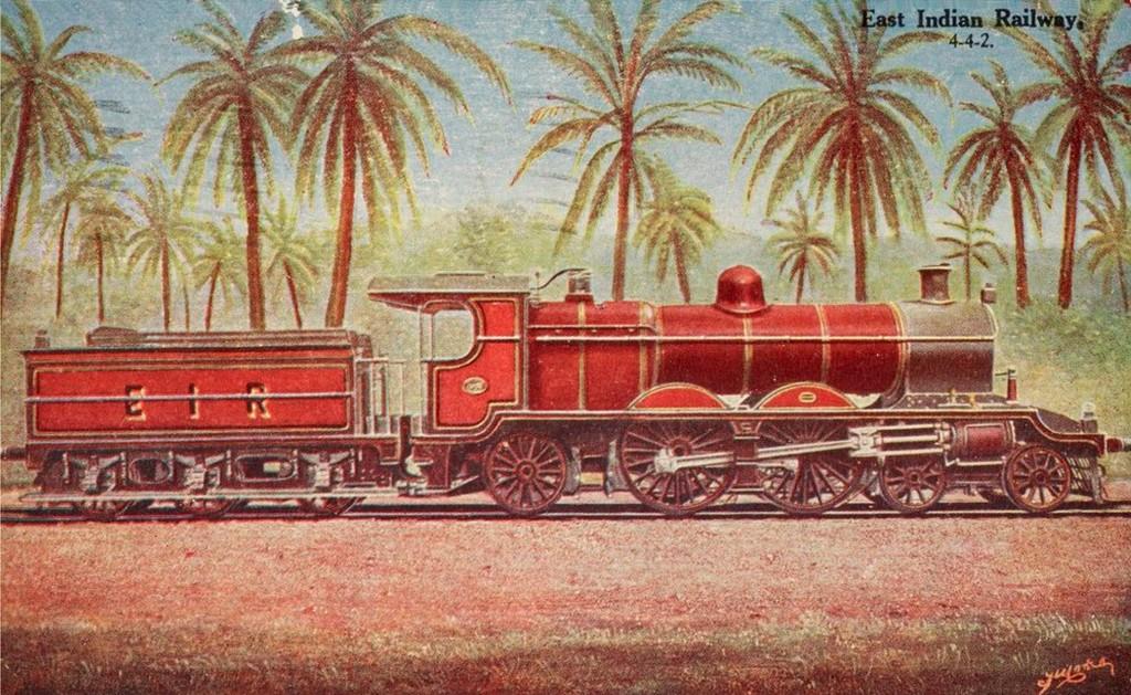 6 - Postcard - East Indian Railway