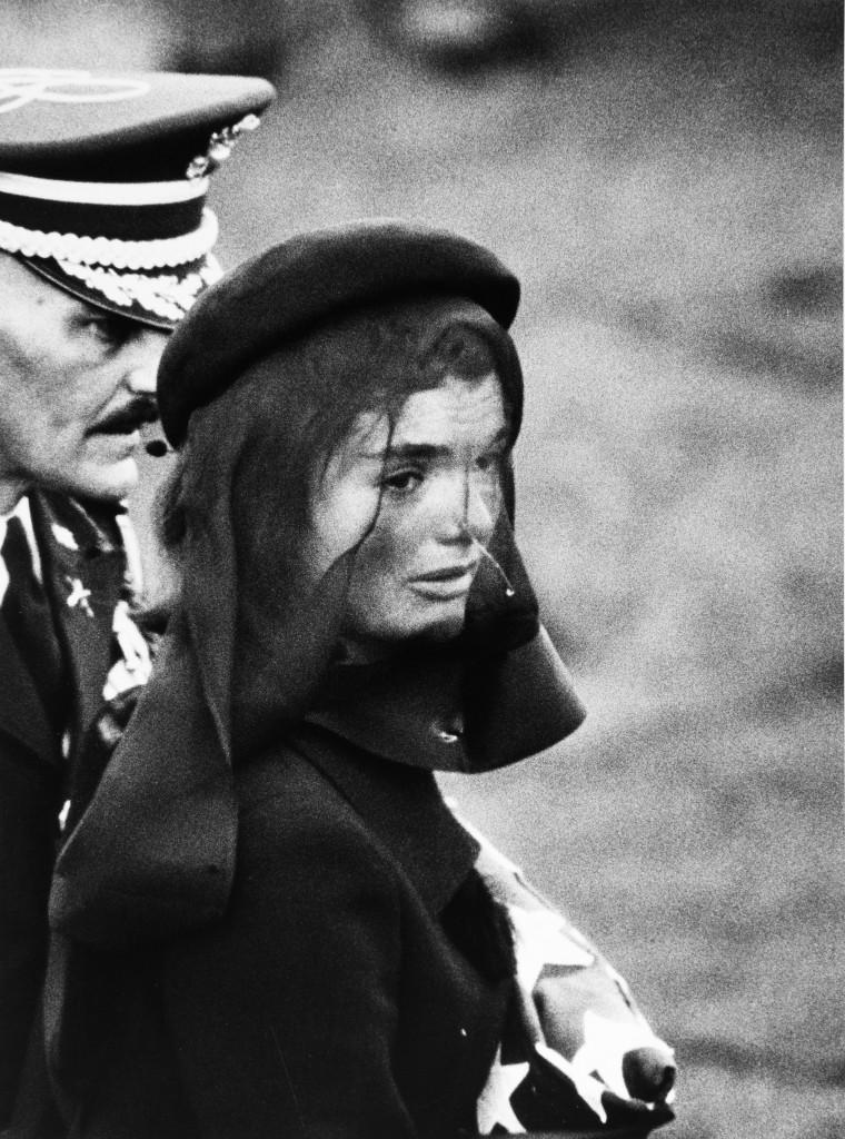 "Elliott Erwitt. ""Jackie Kennedy at Funeral,"" 1963, portfolio 1980."