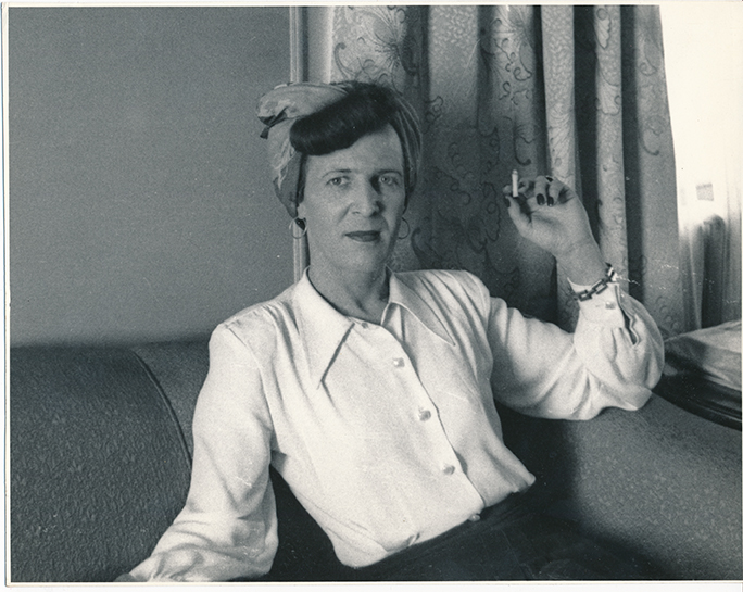 """Louise Lawrence with cigarette"" /A photograph from the Kinsey Institute archives."