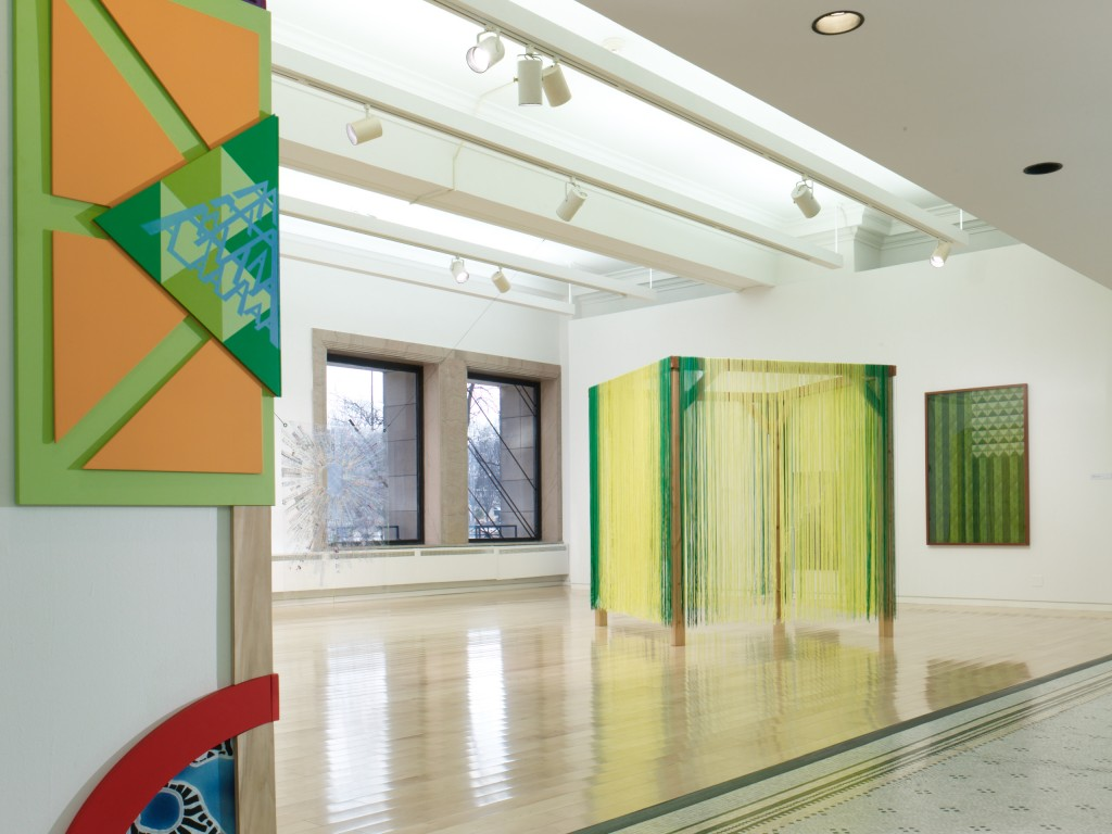 "Installation view of ""Present Standard"" at the Chicago Cultural Center, 2016."