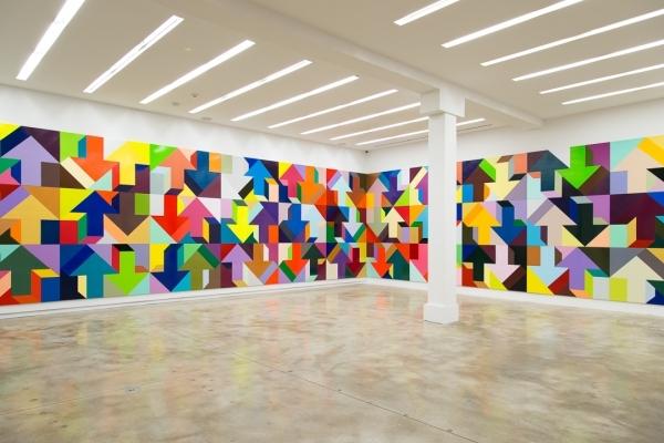 "Tony Tasset. Installation view of ""Me and My Arrow"" at Kavi Gupta Gallery, Winter 2016."