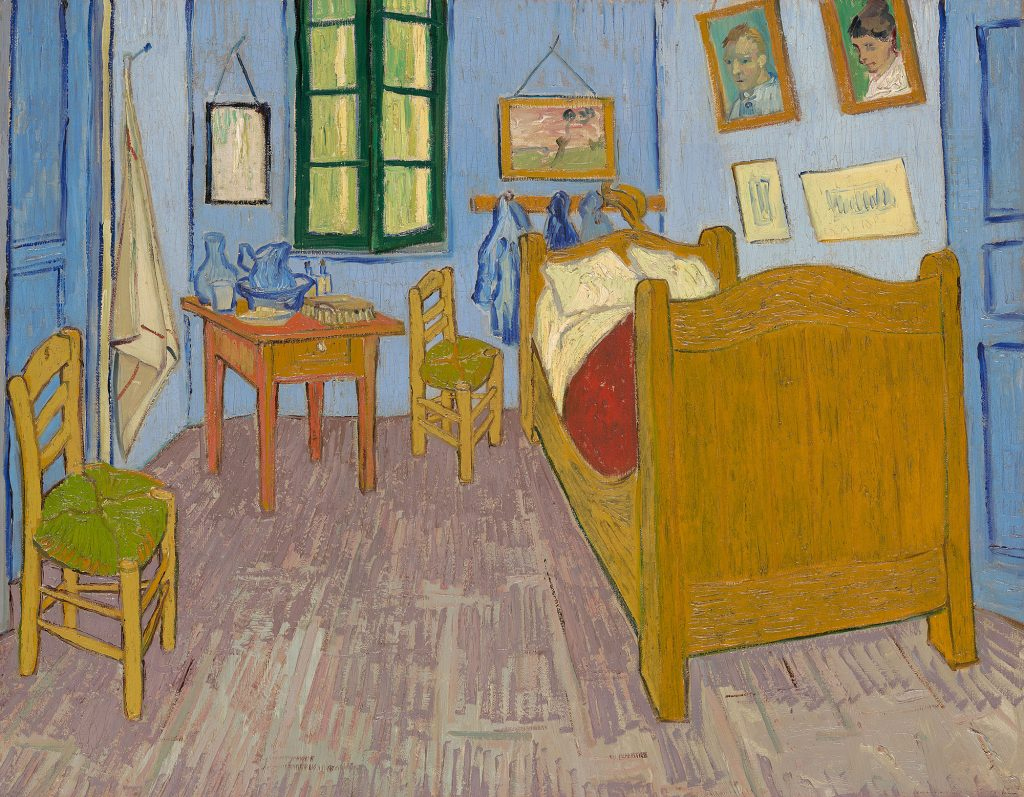 "Vincent van Gogh. ""The Bedroom,"" 1889. Musée d'Orsay, Paris, sold to national museums under the Treaty of Peace with Japan, 1959."