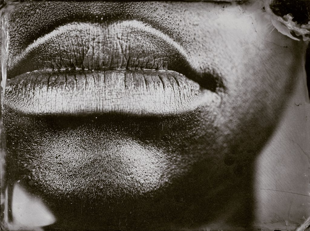 "Myra Greene. ""Untitled (Ref. #10) from Character Recognition,"" 2006-2007. Black glass ambrotypes, 3 x 3 4/5"" inches"