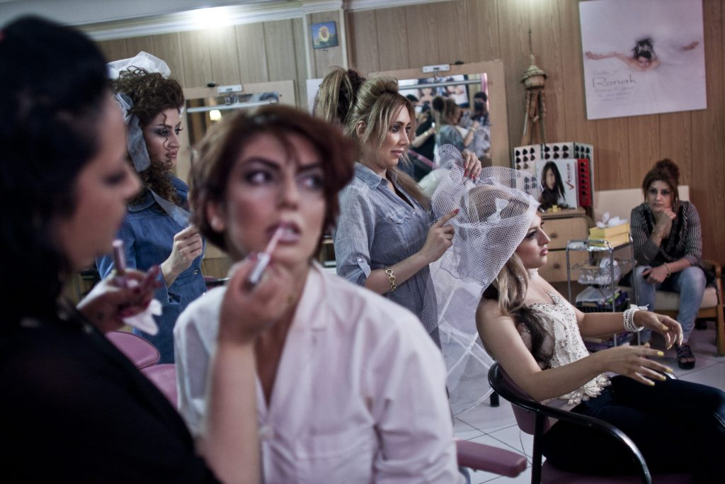 Hossein Fatemi. A beauty salon in Tehran, Iran