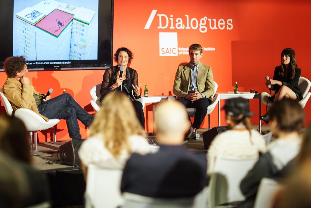 A discussion at EXPO Chicago /Dialogues, Fall 2015