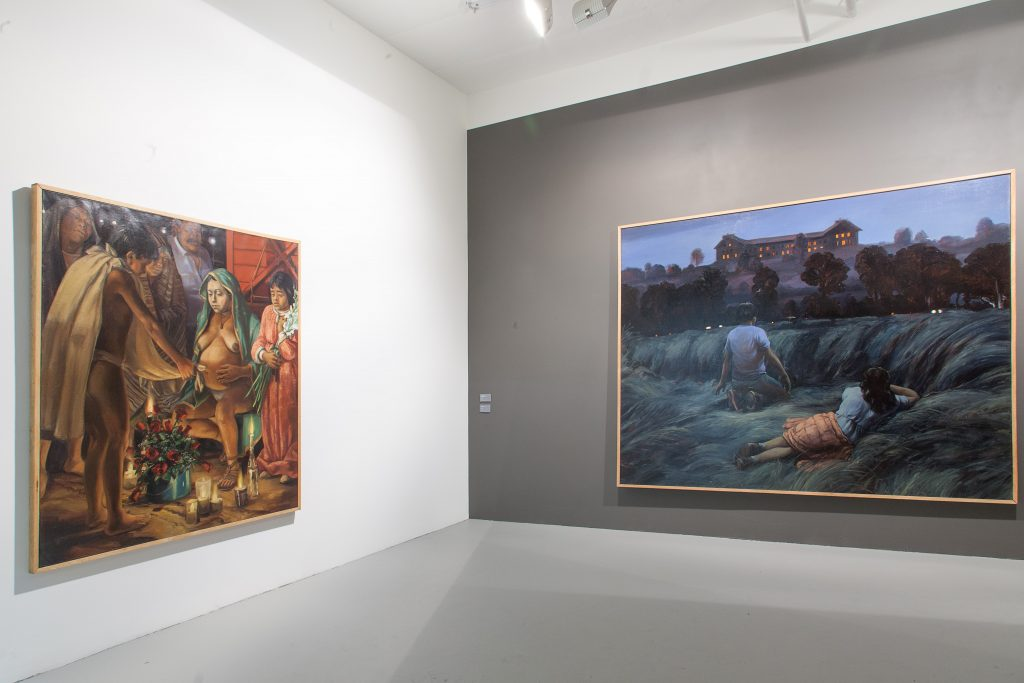 Installation view with works by Daniel Lezama, Mana Contemporary Chicago