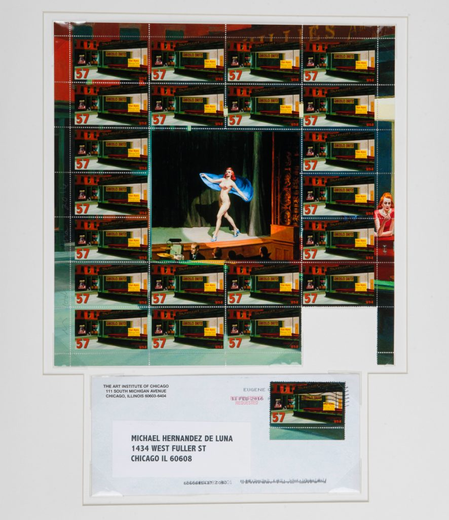 "Michael Hernandez de Luna. ""The Diner is Closed and Becoming a Massage Parlor (Homage to Edward Hopper)"""