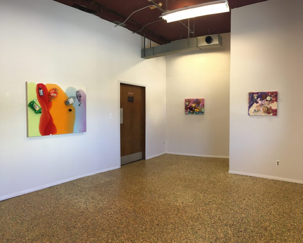 Installation view of Tony Tasset's exhibition at the Suburban Walker's Point, Spring 2016