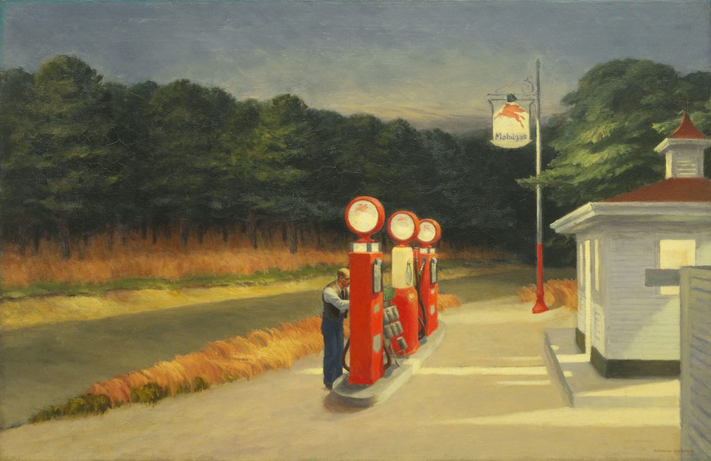 "Edward Hopper. ""Gas,"" 1940. The Museum of Modern Art, New York, Mrs. Simon Guggenheim Fund, 1943. © The Museum of Modern Art/Licensed by SCALA / Art Resource, NY."