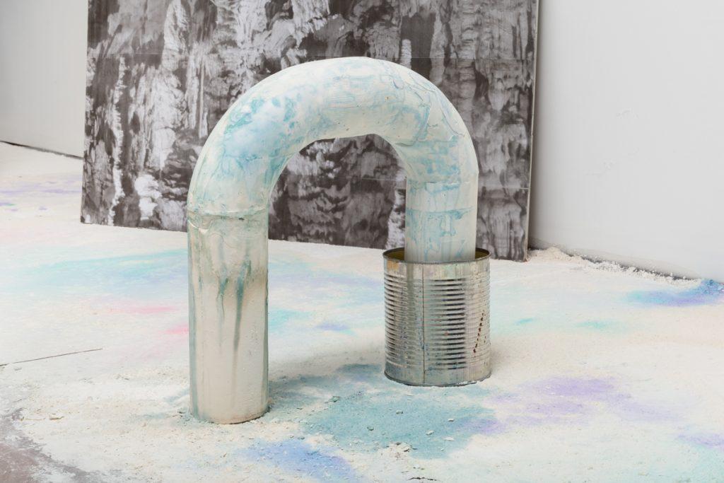 """Julie Escoffier, Detail of """"Ellipsis"""" at Efrain Lopez Gallery, Summer 2016"""