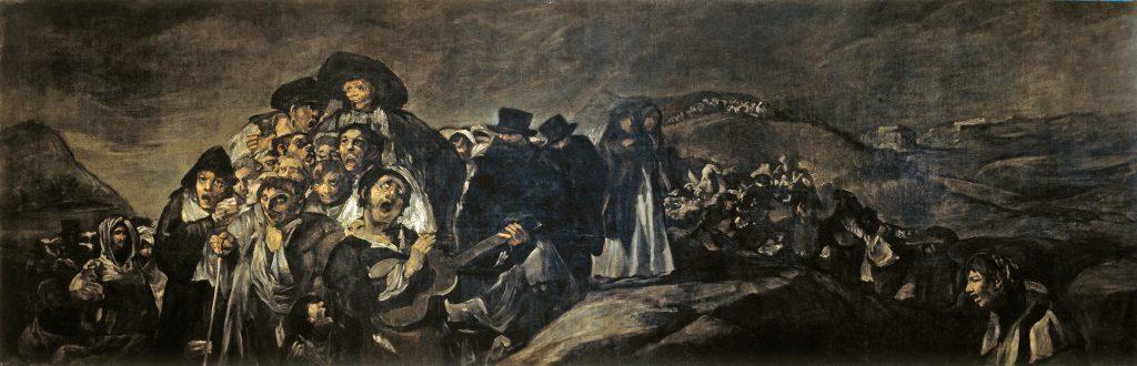"Francisco Goya, ""A Pilgrimage to San Isidro,"" 1819-23. Museo del Prado, Madrid"