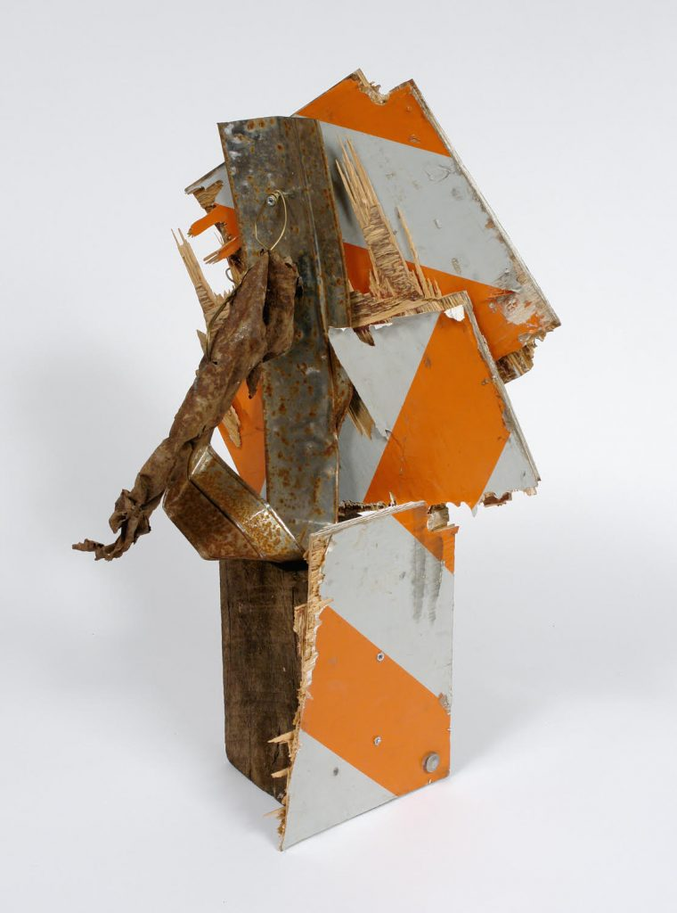 "Lonnie Holley, ""Working on Milwaukee Avenue,"" 2007. Mixed media, 28 x 14 x 14 inches"