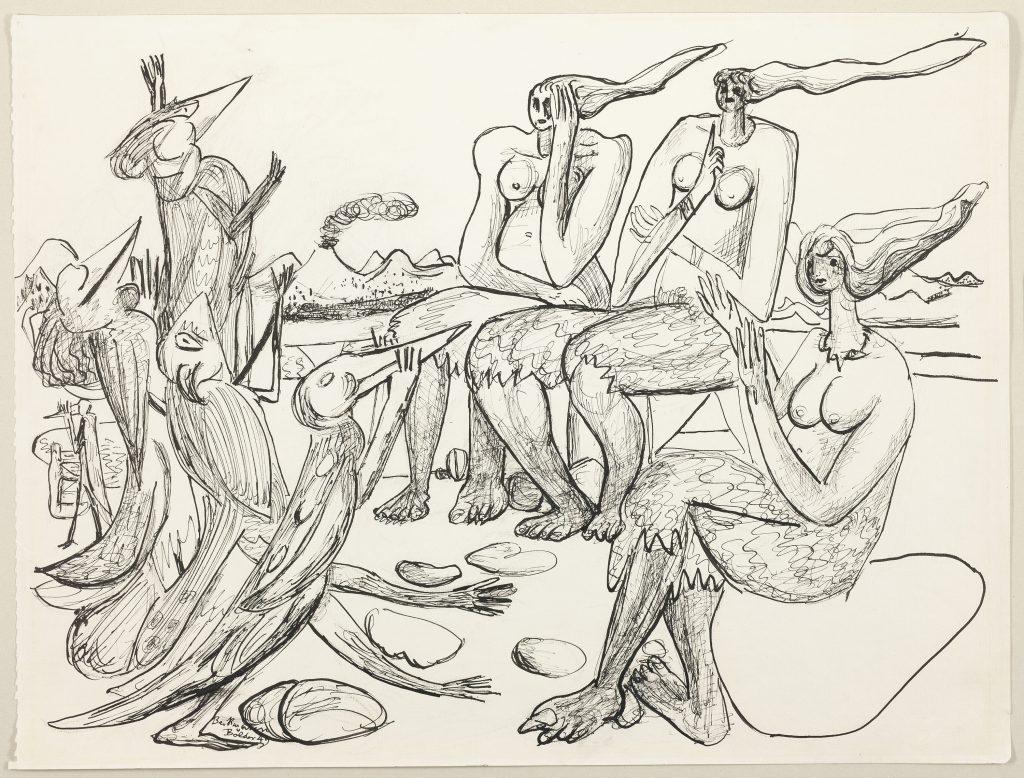 """Max Beckmann, """"Birdplay,"""" 1949."""
