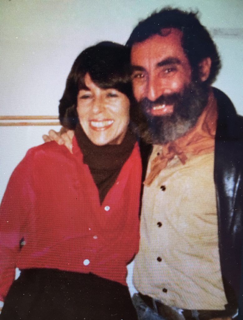 Rhona Hoffman with Richard Nonas in the 1970s/Photo from the gallerists personal collection