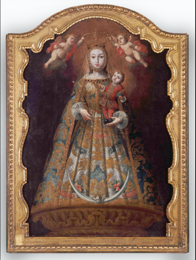 "Juan Pedro López, ""Our Lady of Guidance"" c. 1762, oil on wood, courtesy of the Colección Patricia Phelps de Cisneros"