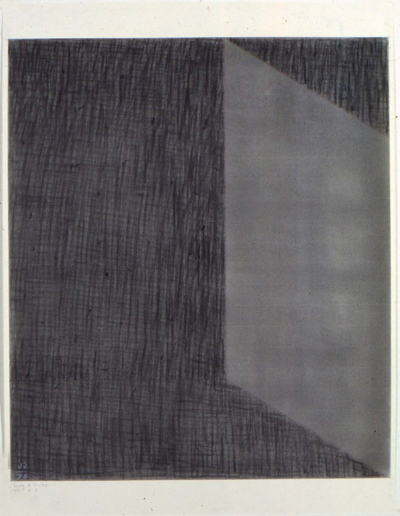 "Jack Tworkov, ""DWG #5-70 (CH #5),"" 1970. Charcoal On Paper /Alexander Gray Associates (# 327)"