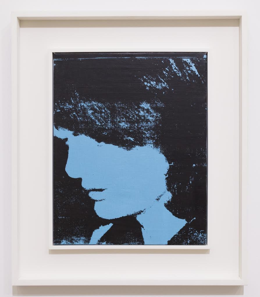 """Andy Warhol, """"Jackie,"""" 1964. Synthetic polymer and silkscreen inks on canvas, 20 x 16 inches"""