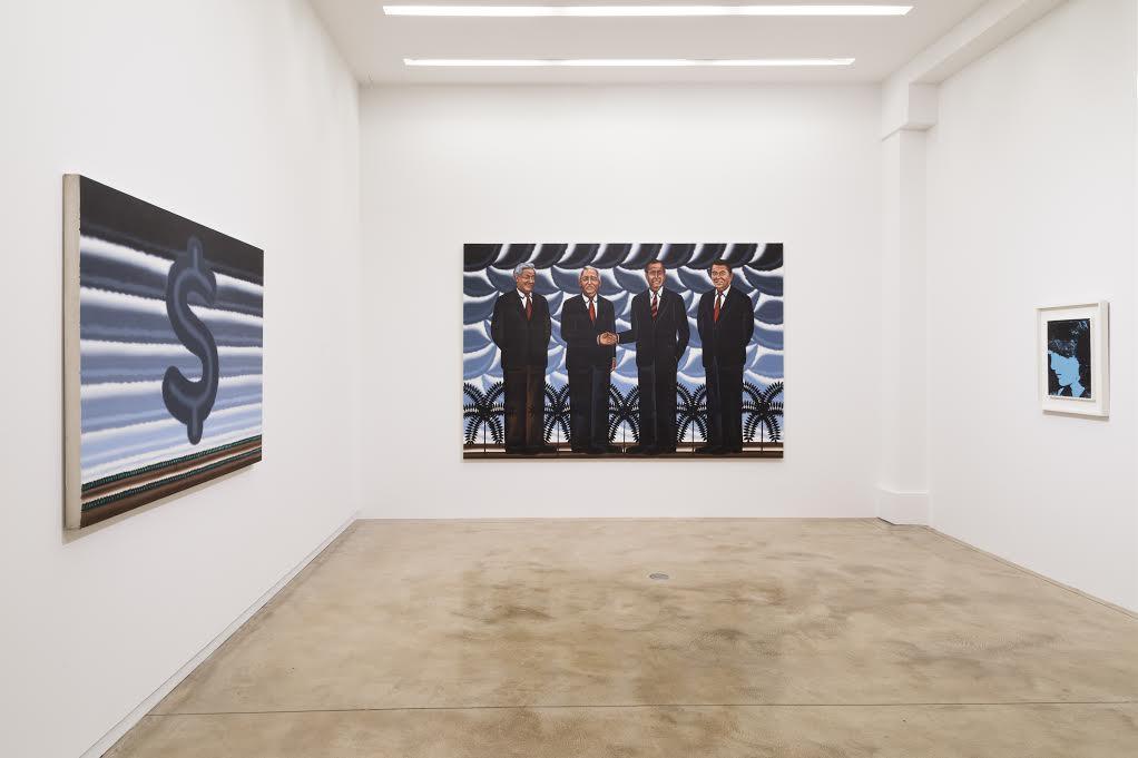 "Installation view of""RogerBrown& Andy Warhol:Politics, Rhetoric, Pop,"" Fall 2016 at Kavi Gupta"
