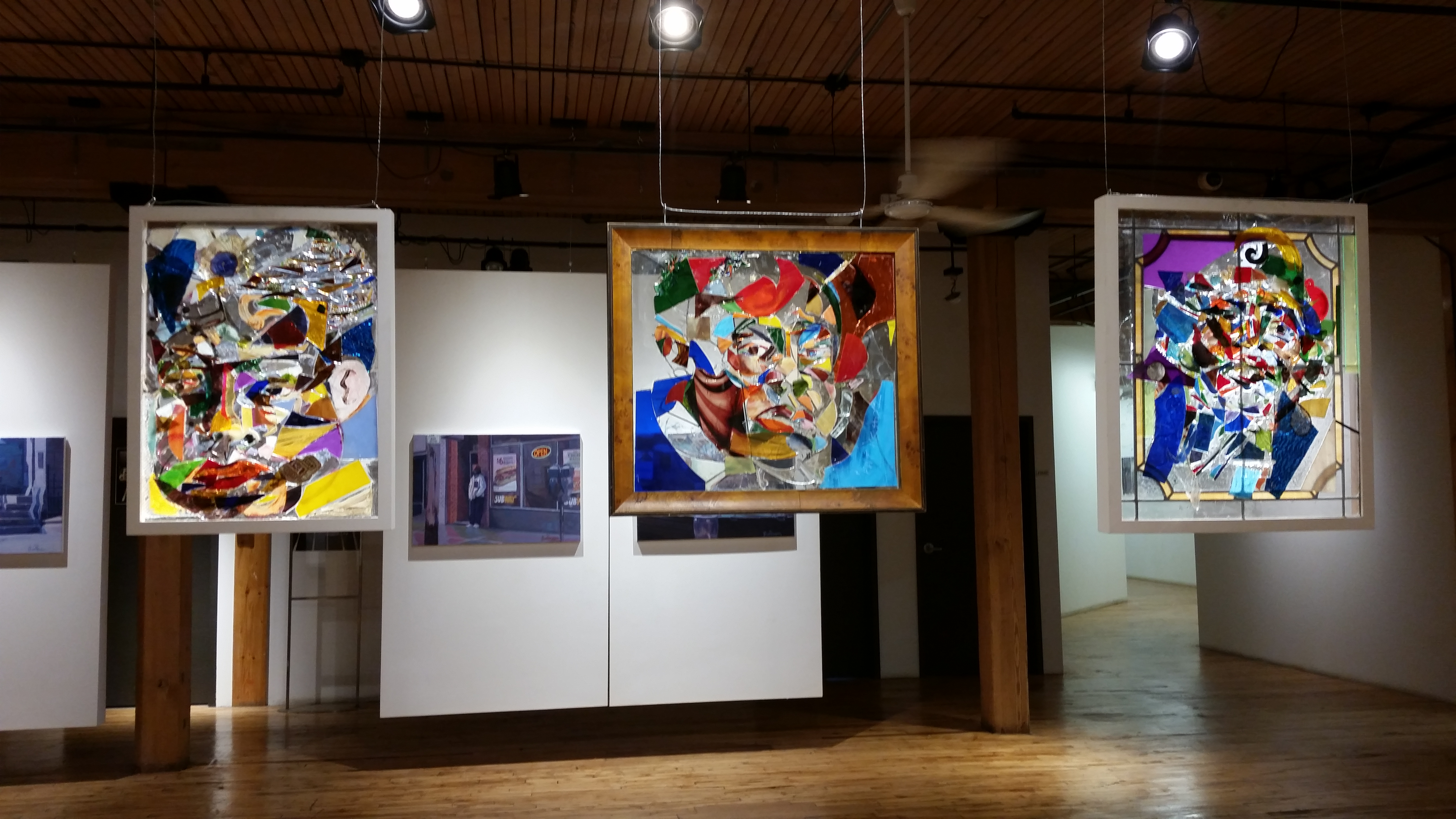Installation view with works by Dalton Brown, Winter 2016